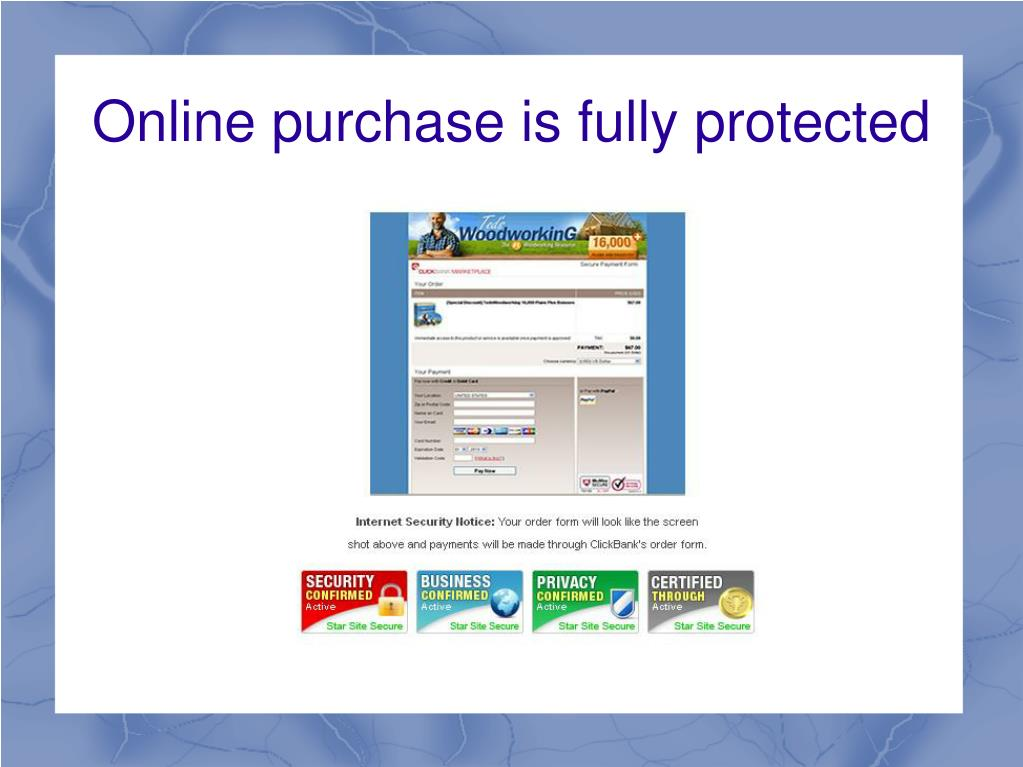 Online purchase is fully protected