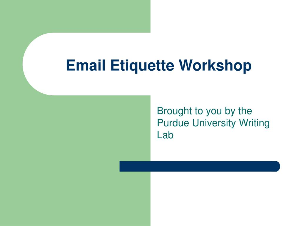 email etiquette workshop l.