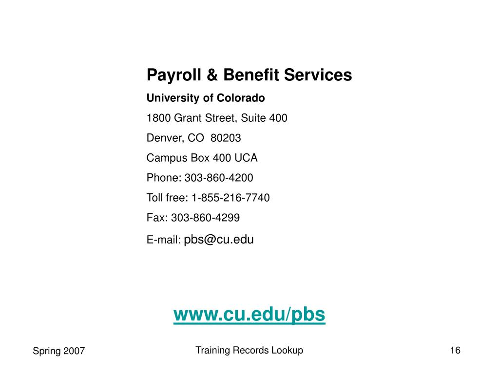 Payroll & Benefit Services