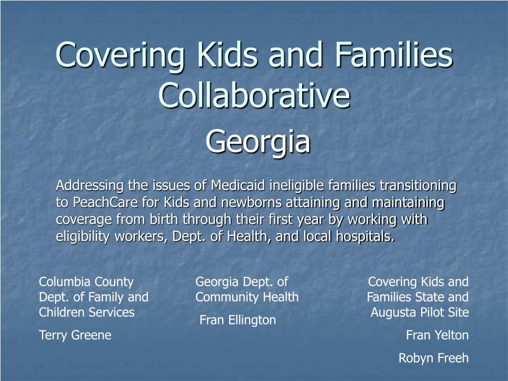 covering kids and families collaborative l.