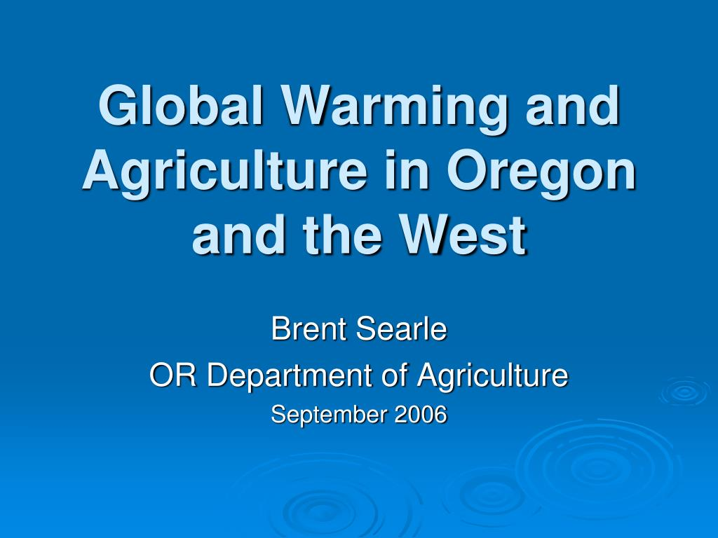 brent searle or department of agriculture september 2006 l.