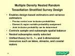 multiple density nested random tessellation stratified survey design