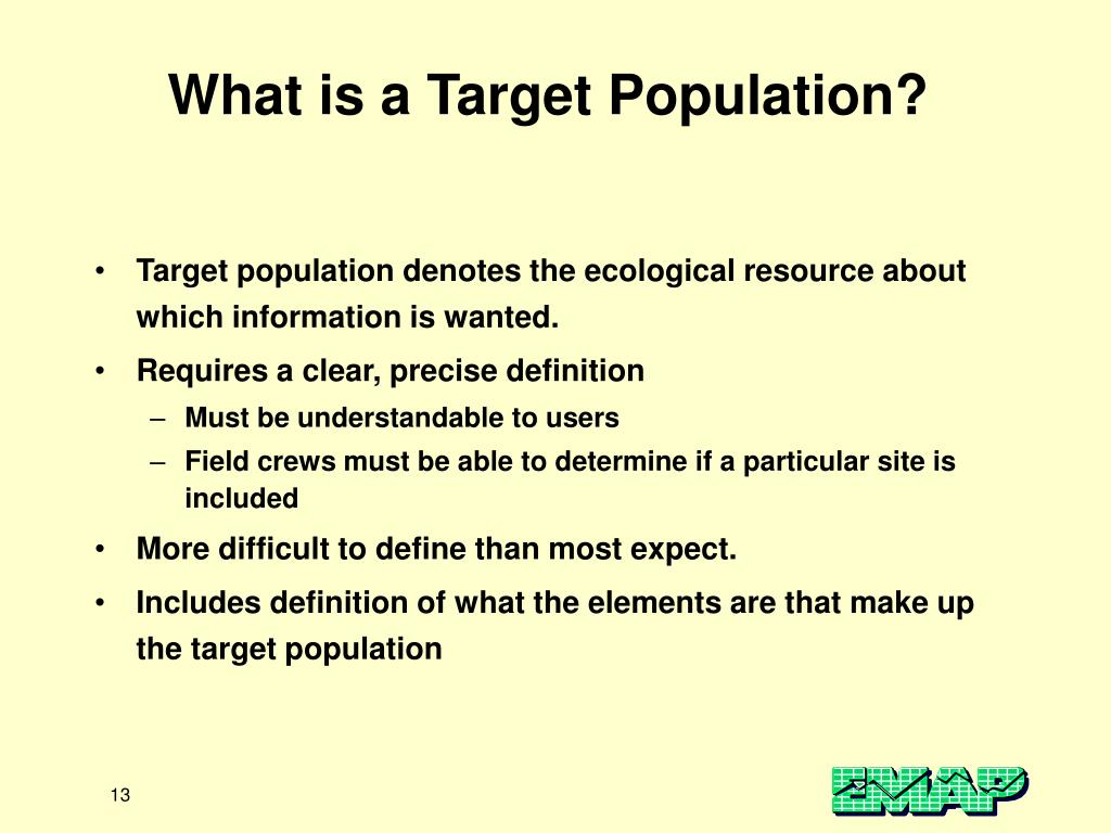 What is a Target Population?