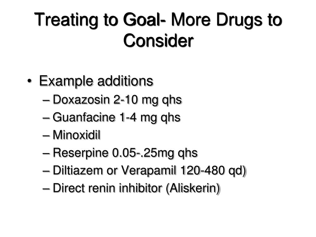 Treating to Goal- More Drugs to Consider