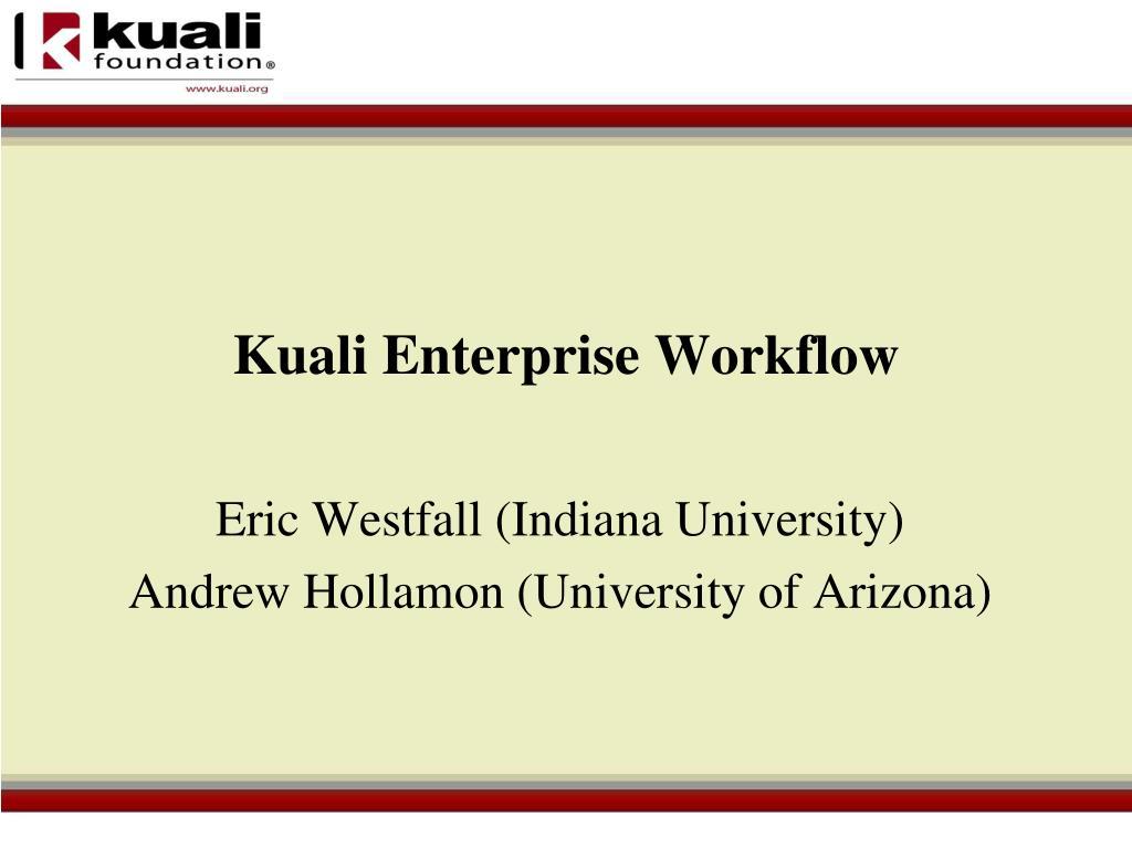 kuali enterprise workflow l.