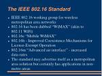 the ieee 802 16 standard