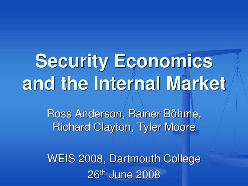 security economics and the internal market l.
