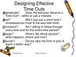 designing effective time outs