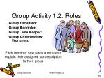 group activity 1 2 roles