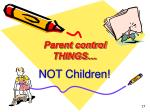 parent control things
