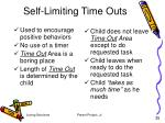 self limiting time outs