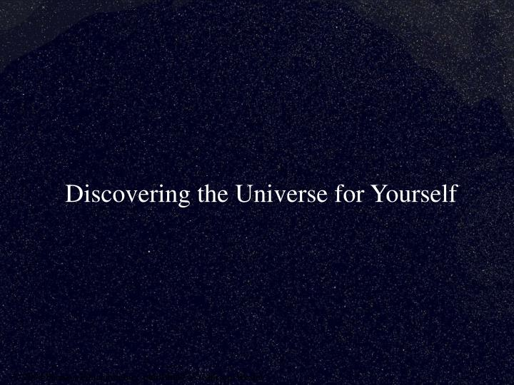 discovering the universe for yourself n.