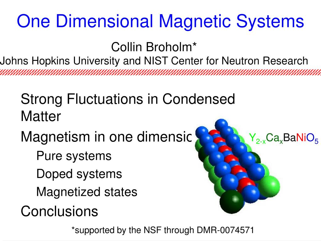one dimensional magnetic systems l.