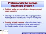 problems with the german healthcare system