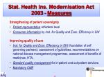 stat health ins modernisation act 2003 measures