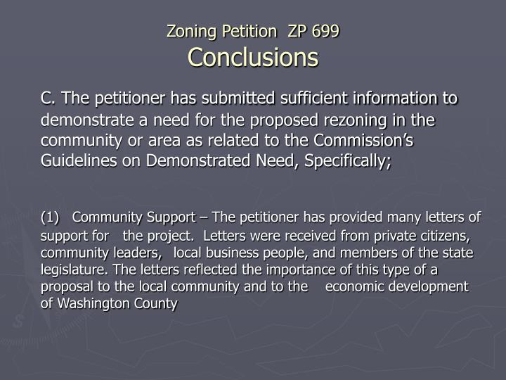Ppt Staff Recommendation For Approval Of Zoning Petition Zp 699