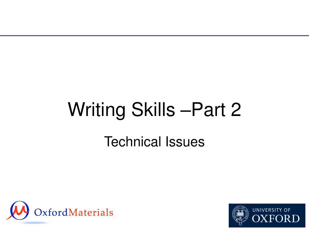 writing skills part 2 l.