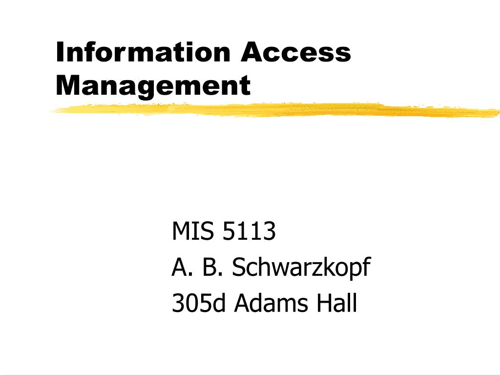 information access management l.