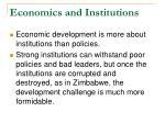 economics and institutions