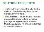 political prequisite