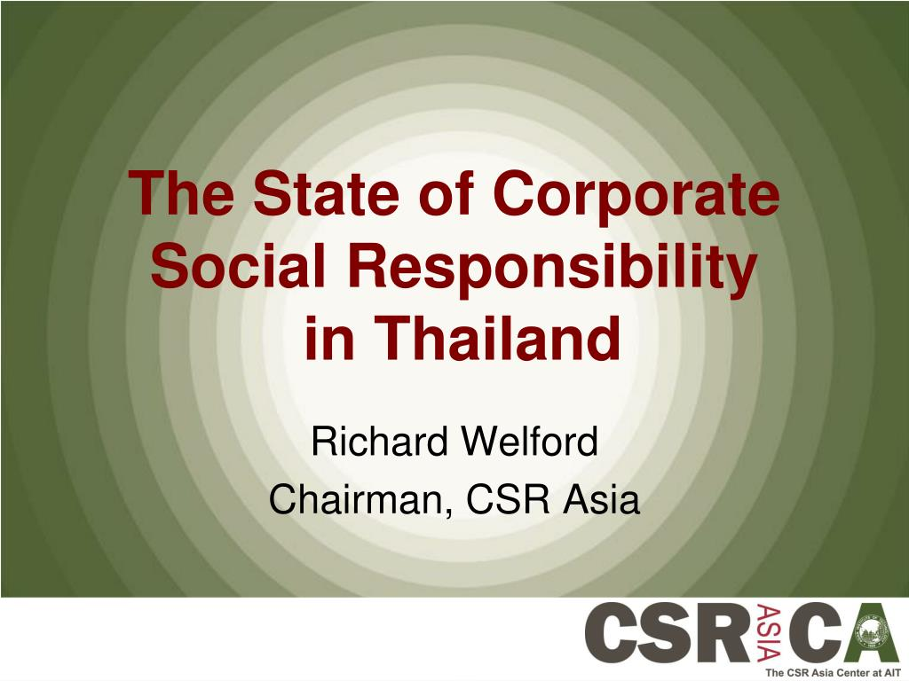 the state of corporate social responsibility in thailand l.