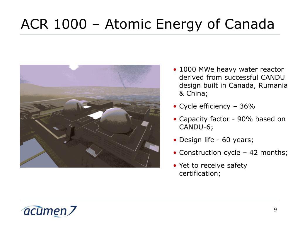 ACR 1000 – Atomic Energy of Canada