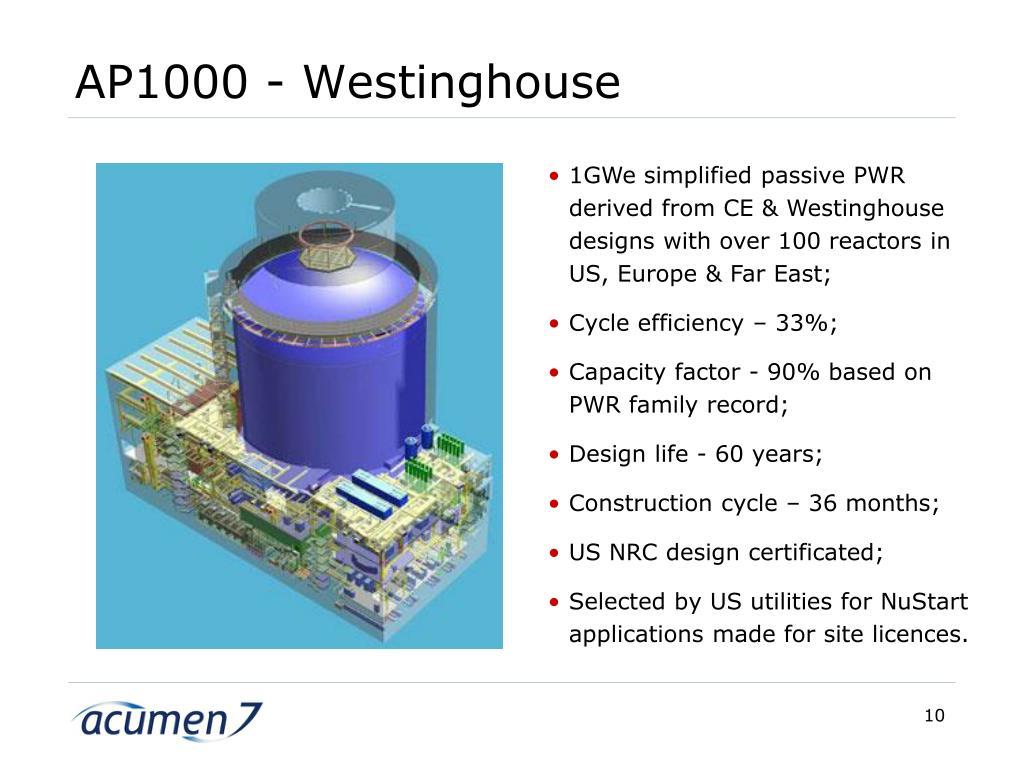 AP1000 - Westinghouse