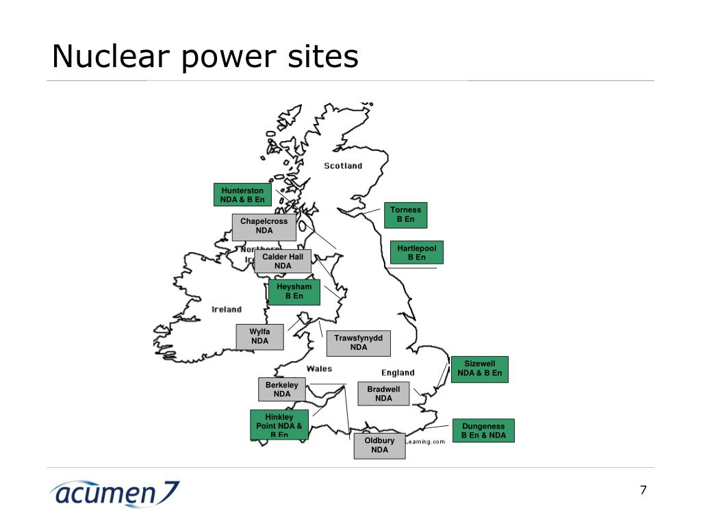 Nuclear power sites
