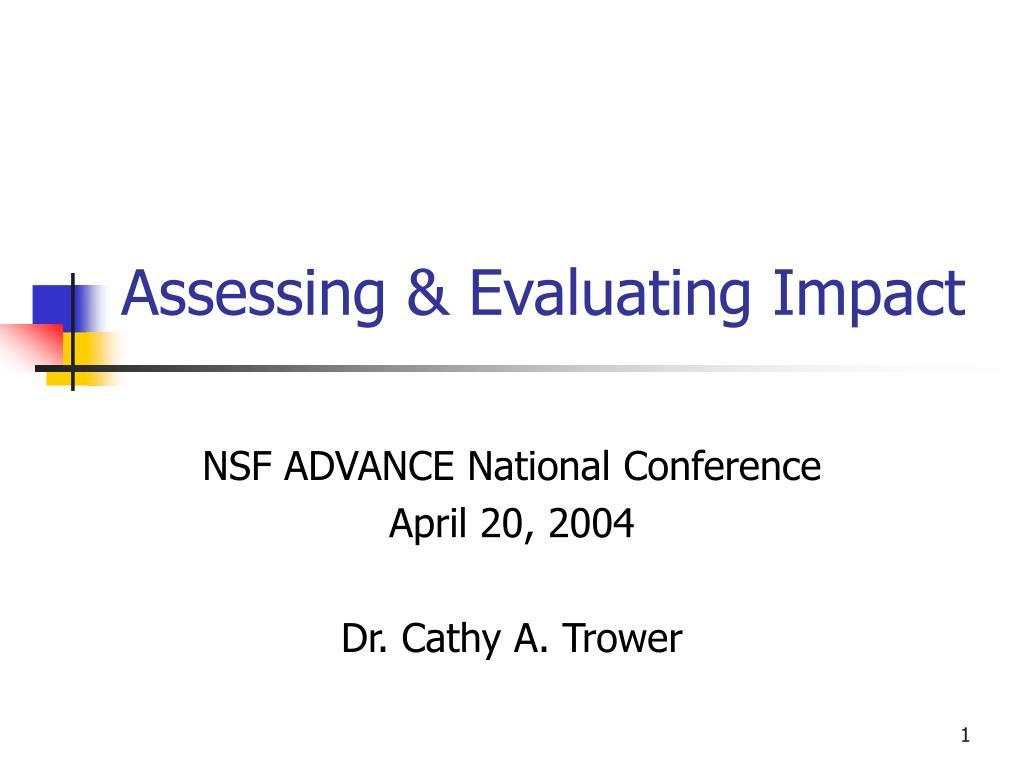 assessing evaluating impact l.