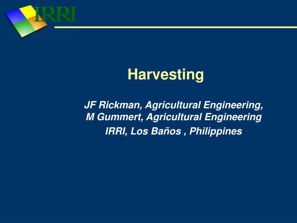 harvesting l.