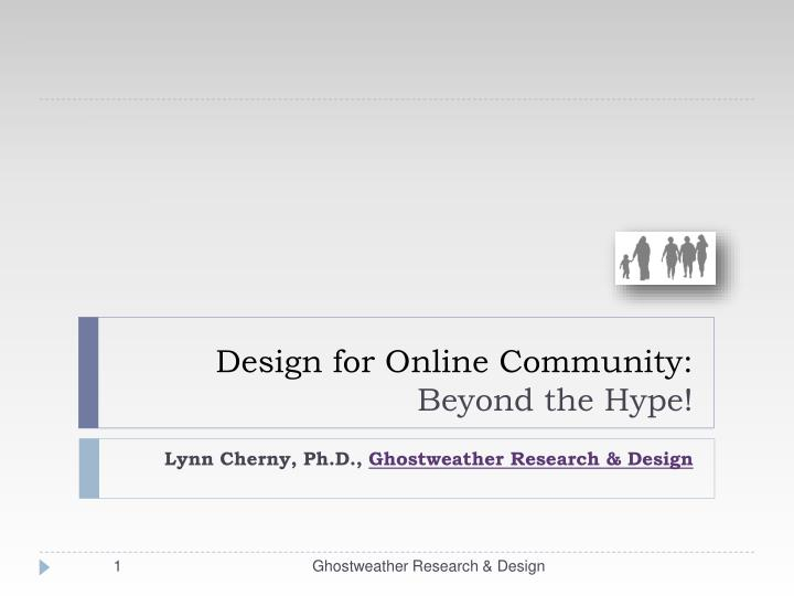 design for online community beyond the hype n.