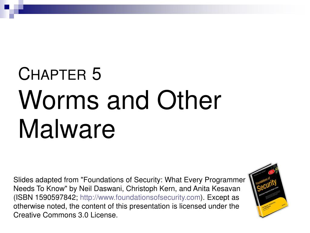 c hapter 5 worms and other malware l.