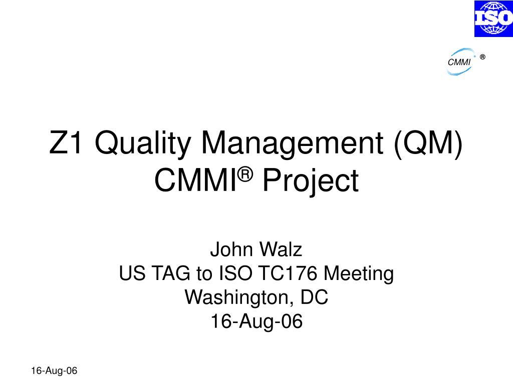 z1 quality management qm cmmi project l.