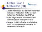 christen union christenunie cu