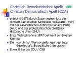 christlich demokratischer apell christen democratisch apell cda