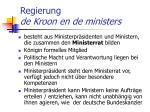 regierung de kroon en de ministers