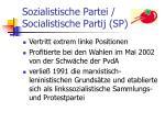 sozialistische partei socialistische partij sp