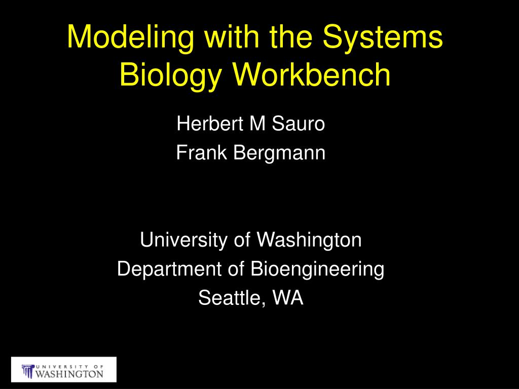 modeling with the systems biology workbench l.