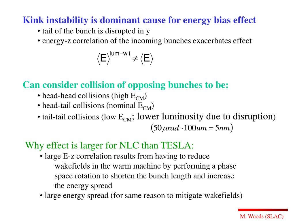 Kink instability is dominant cause for energy bias effect