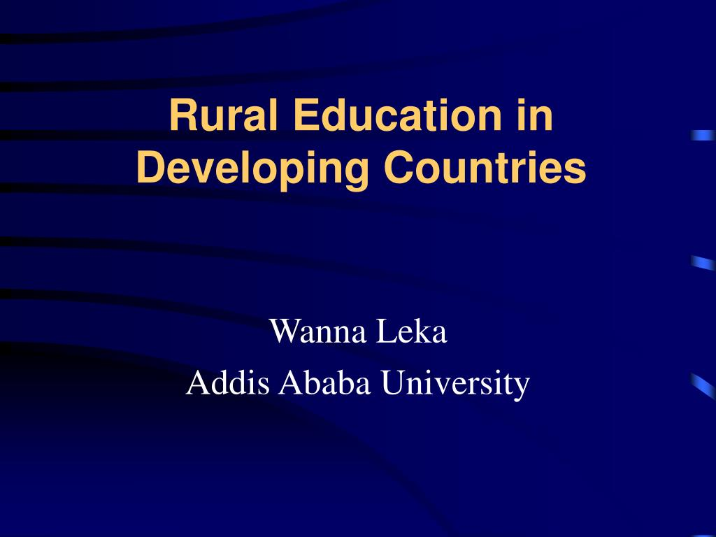 rural education in developing countries l.