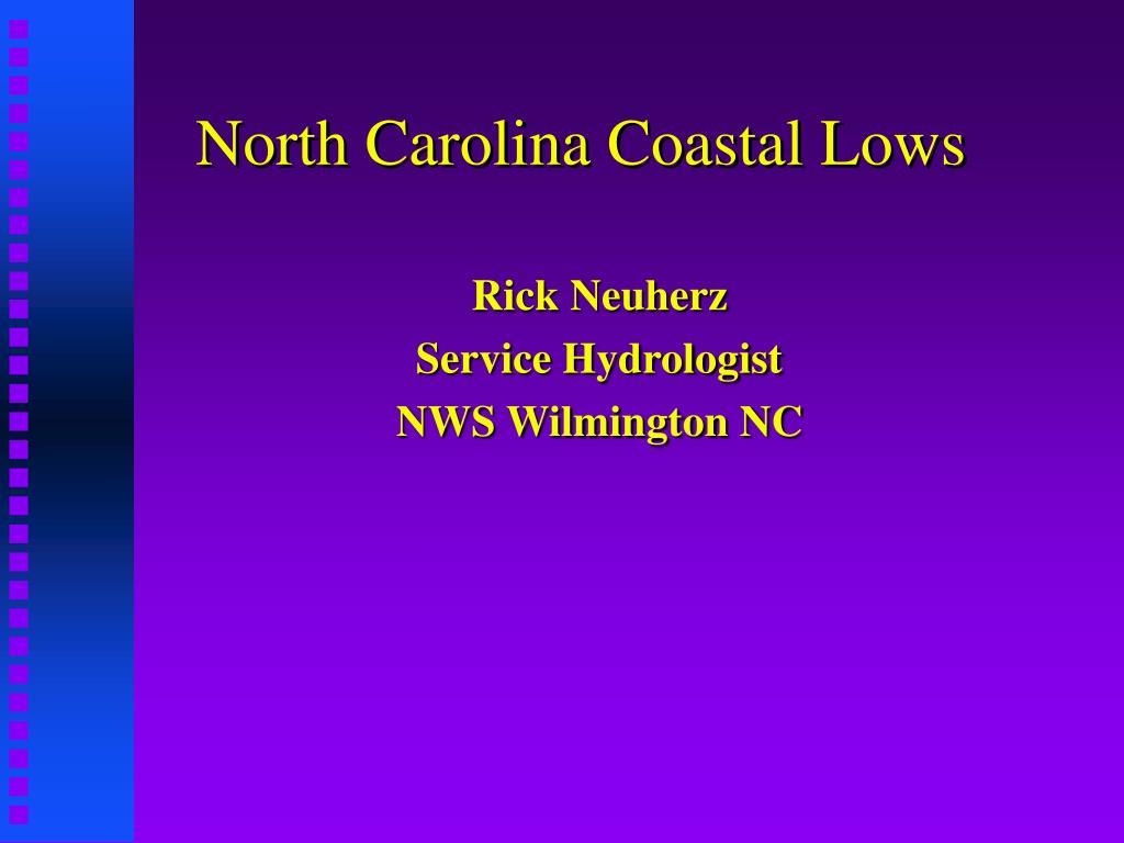 north carolina coastal lows l.