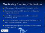monitoring inventory limitations