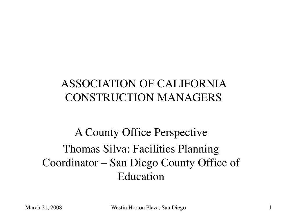 association of california construction managers l.