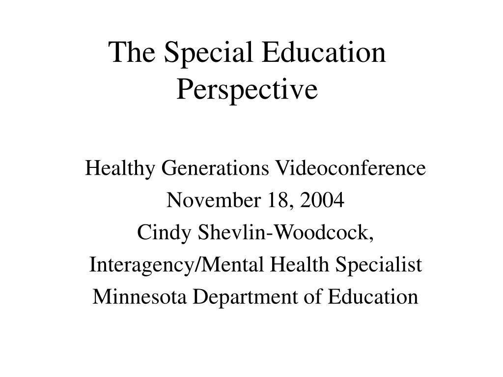 the special education perspective l.