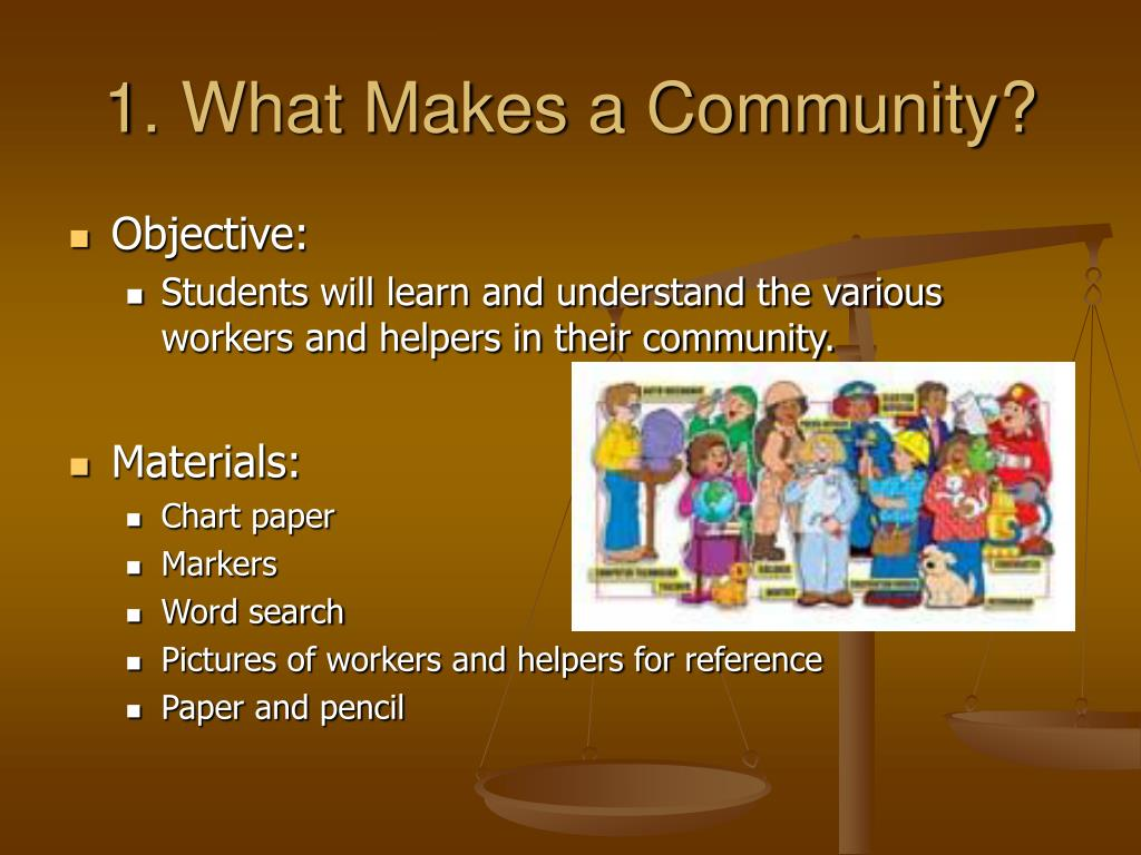 1. What Makes a Community?