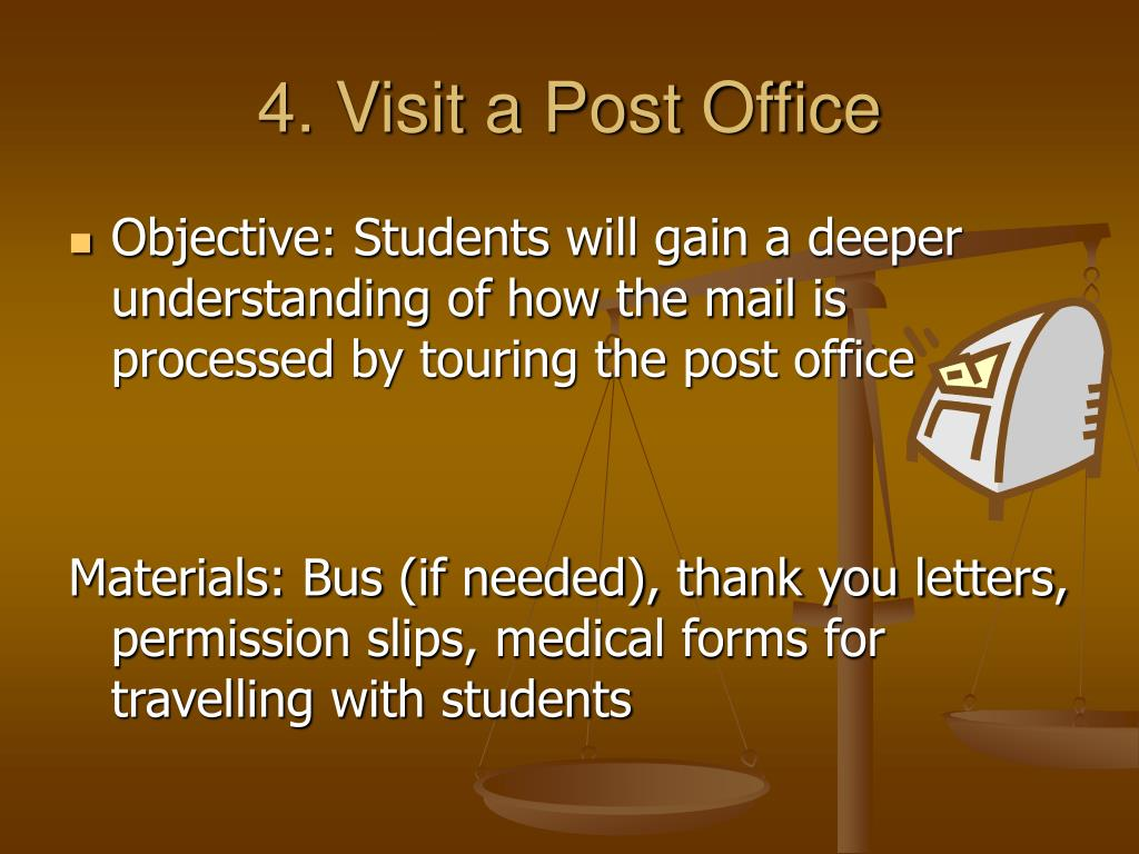 4. Visit a Post Office