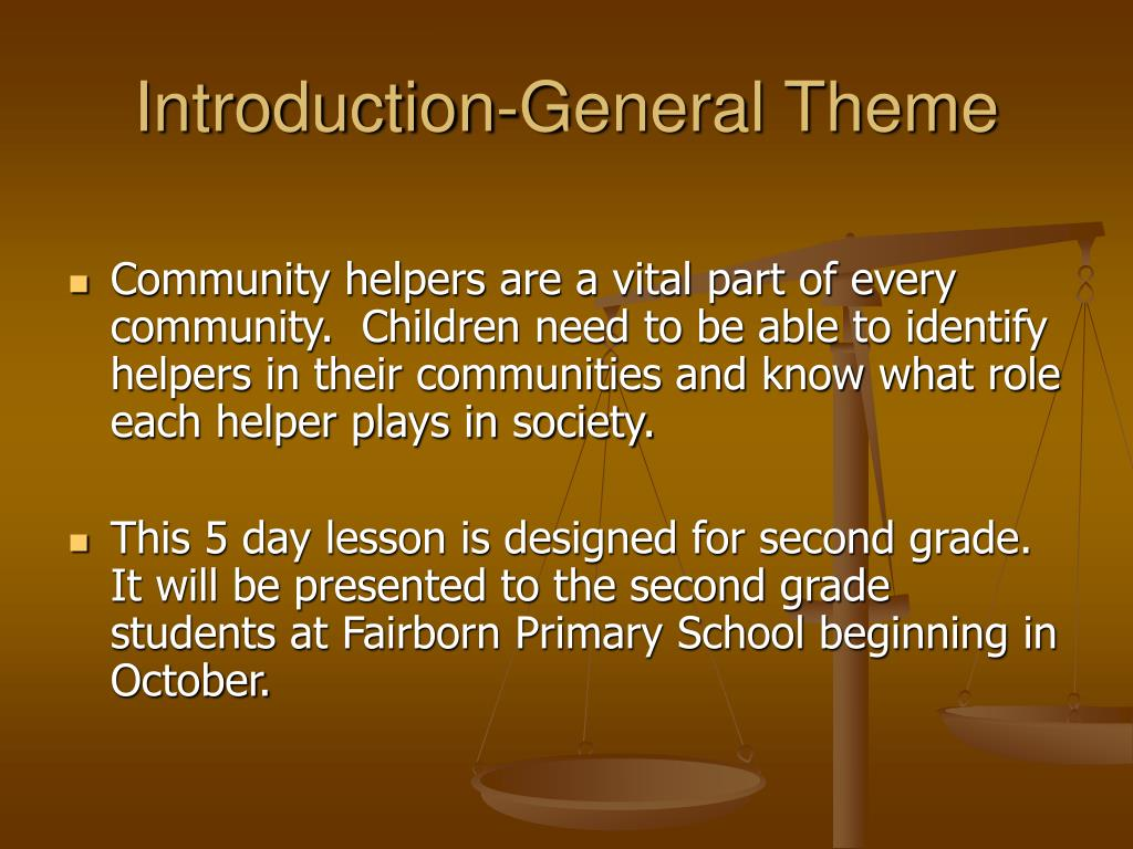 Introduction-General Theme