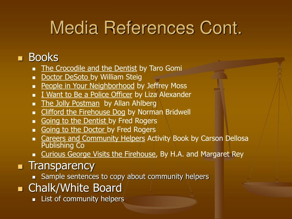 Media References Cont.