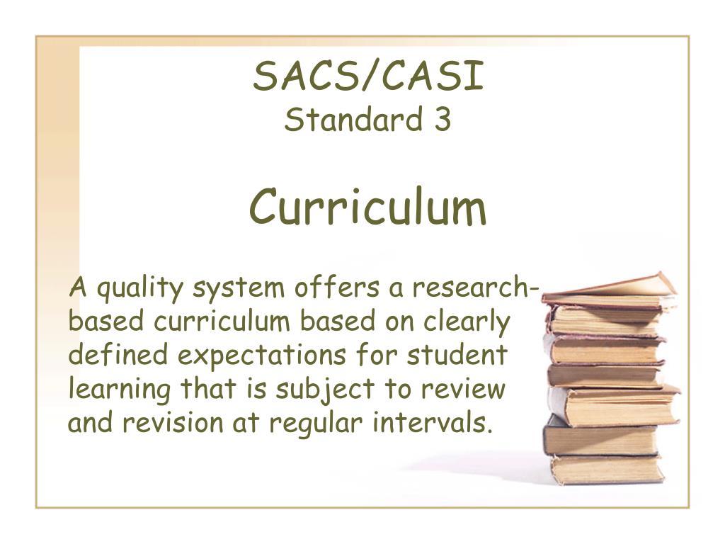 sacs casi standard 3 curriculum l.