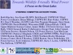 towards wildlife friendly wind power a focus on the great lakes11